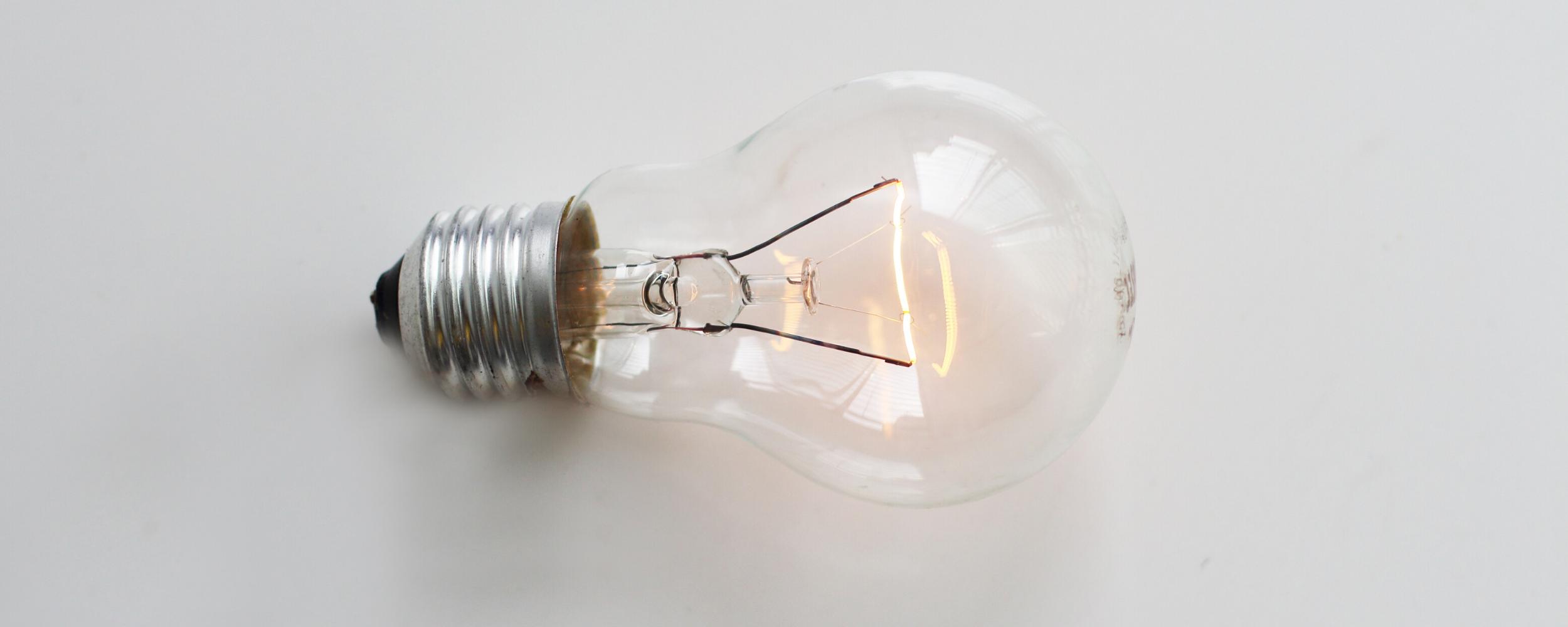 sideways lightbulb