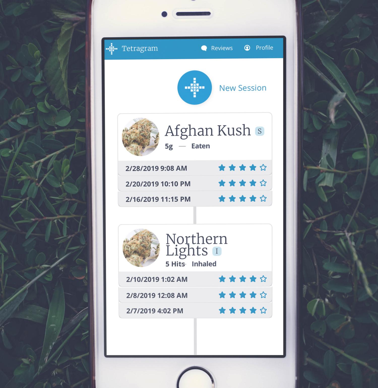Tetragram app new session screen