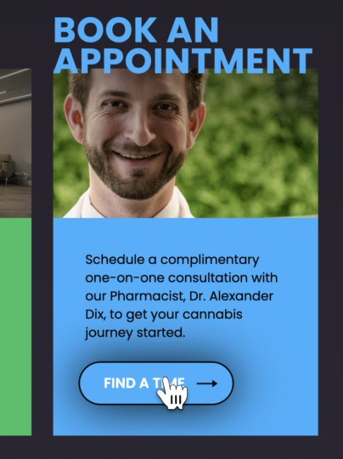 Screen showing how to book an appointment